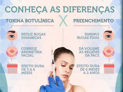 Cirurgia Plástica Recife - conheça as diferenças: Toxina Butolinica x Preenchimento